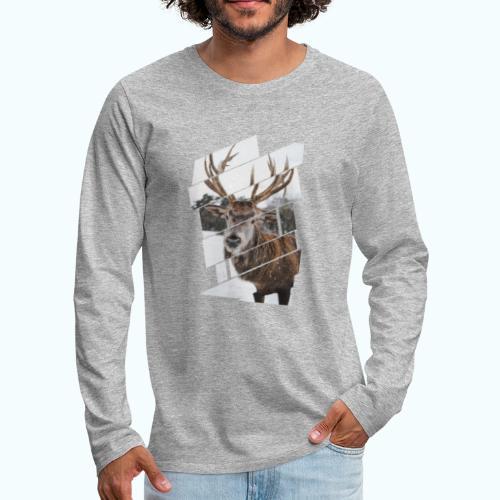Hipster reindeer - Men's Premium Longsleeve Shirt