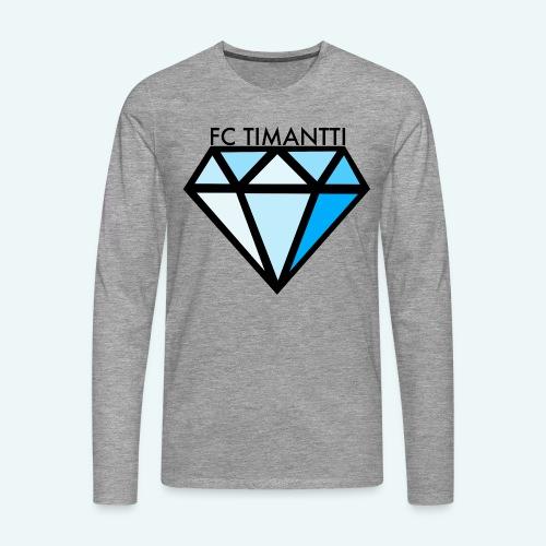 FC Timantti mustateksti - Miesten premium pitkähihainen t-paita