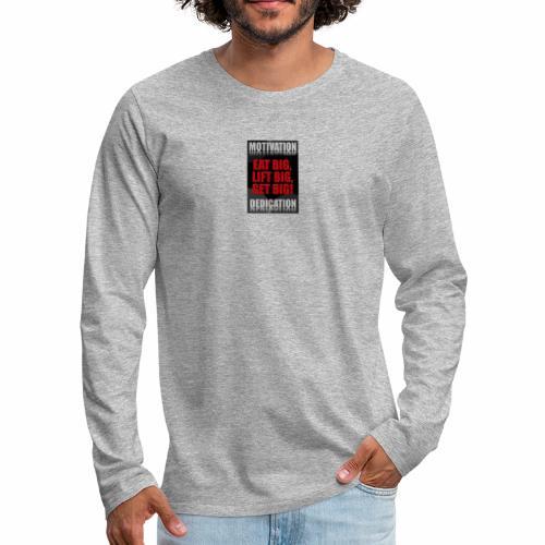 Motivation gym - Långärmad premium-T-shirt herr