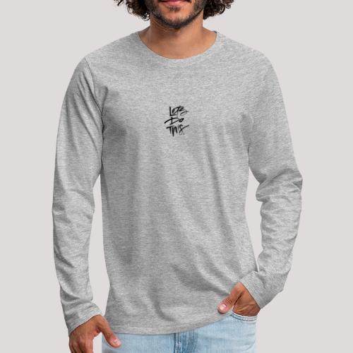 LDT Clear MASTER BLK - Men's Premium Longsleeve Shirt