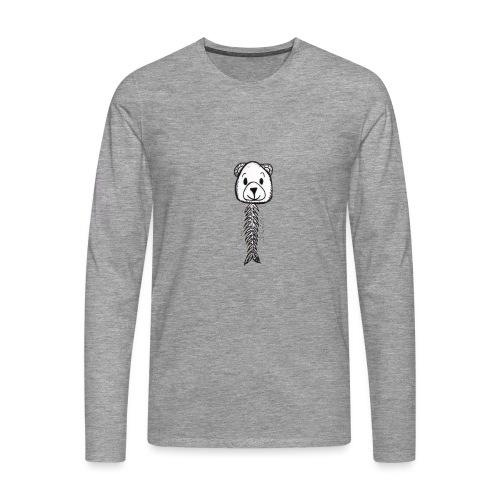 Poisson petit ours - T-shirt manches longues Premium Homme