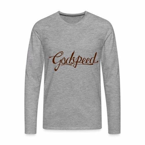 Godspeed 2 - Miesten premium pitkähihainen t-paita