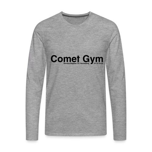cometgym logga - Långärmad premium-T-shirt herr