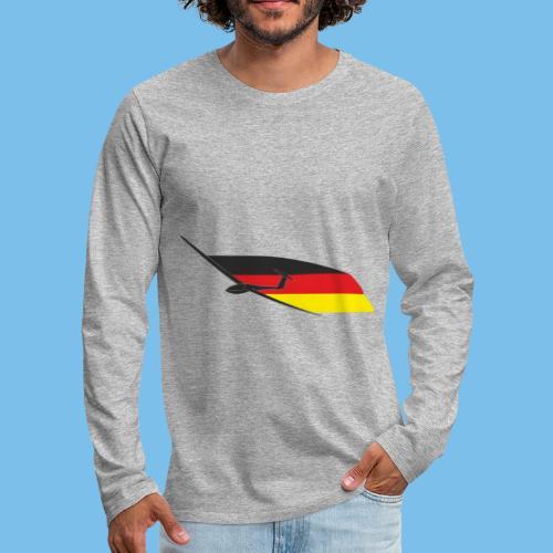 deutschlandflagge segelflugzeug Segelflieger - Männer Premium Langarmshirt