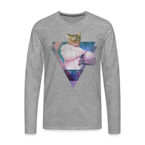 SPACE CAT - Katze aus dem All - Männer Premium Langarmshirt