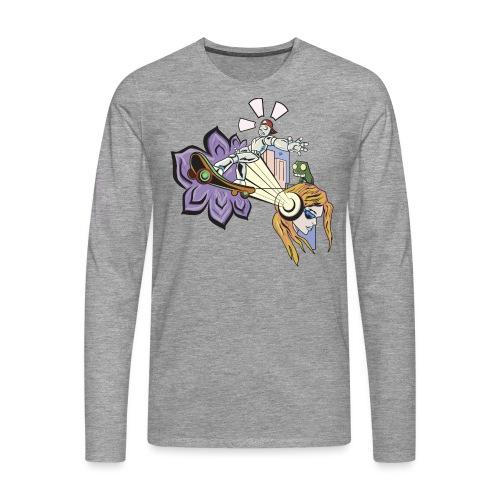 Spring Doodle - Mannen Premium shirt met lange mouwen