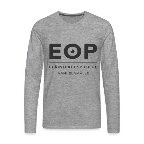 EOP Logo slogan musta - Miesten premium pitkähihainen t-paita