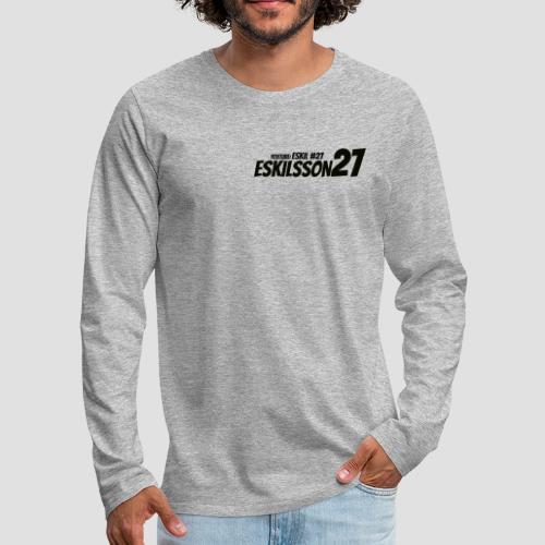 Eskilsson 27 sticker motive Black - Långärmad premium-T-shirt herr