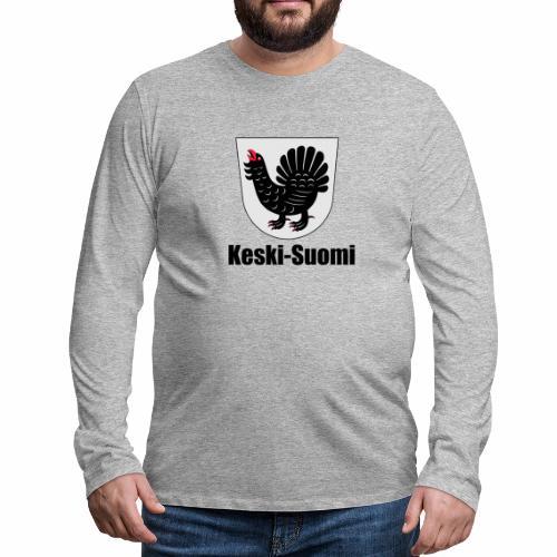 Keski-Suomi vaakuna tuote - Miesten premium pitkähihainen t-paita