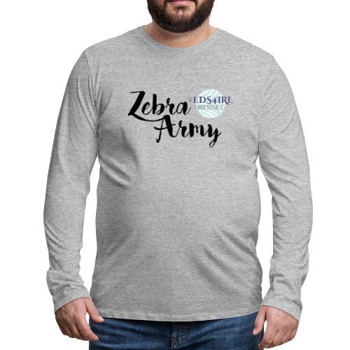 Zebra Army (black) - Men's Premium Longsleeve Shirt