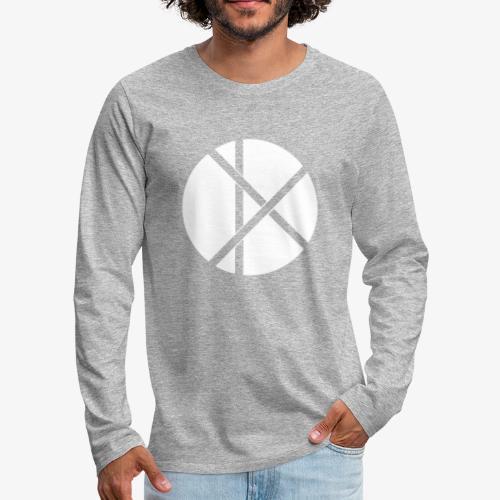 Don Logo - valkoinen - Miesten premium pitkähihainen t-paita
