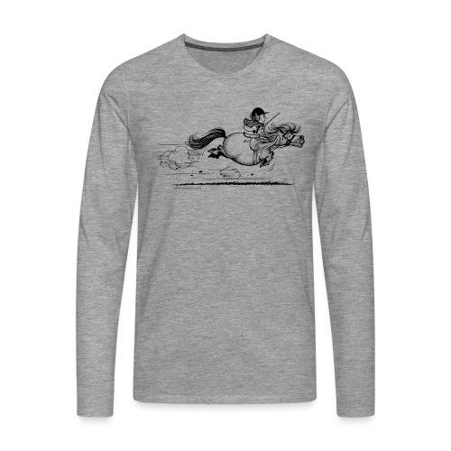PonySprint Thelwell Cartoon - Men's Premium Longsleeve Shirt