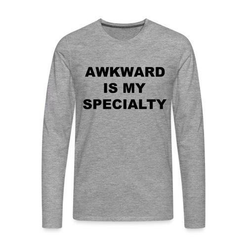 Awkward - Mannen Premium shirt met lange mouwen
