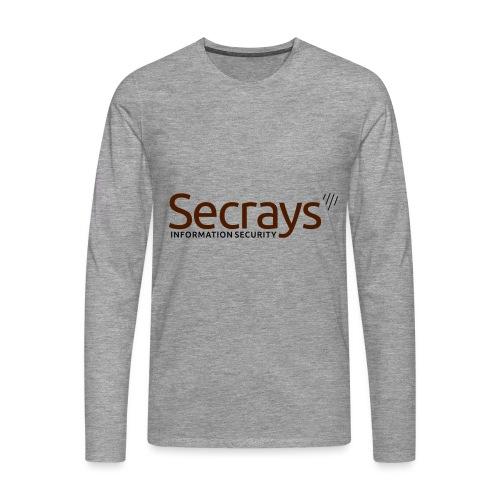 Secrays vektori logo - Miesten premium pitkähihainen t-paita