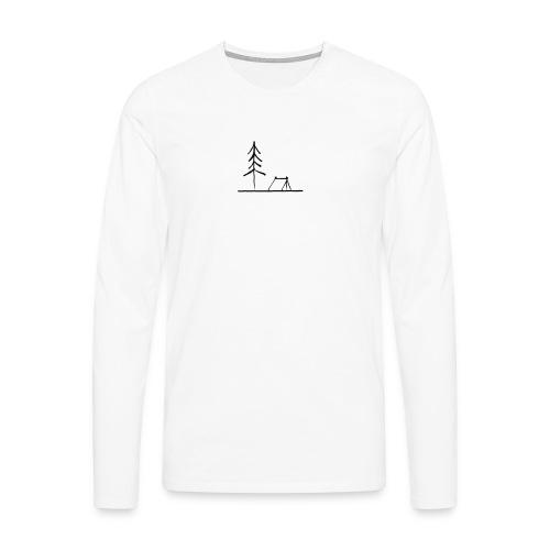 Landscape camping 2 - Maglietta Premium a manica lunga da uomo