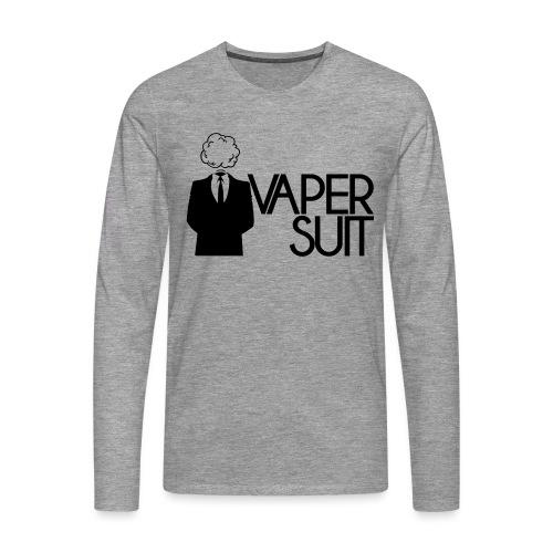 VAPER SUIT - Koszulka męska Premium z długim rękawem