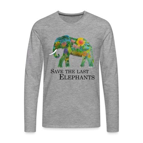 Save The Last Elephants - Männer Premium Langarmshirt