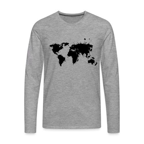 Weltkarte Splash - Männer Premium Langarmshirt