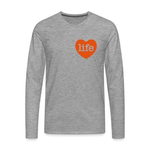 LOVE LIFE heart - Men's Premium Longsleeve Shirt