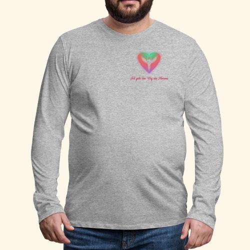 Ich gehe den Weg meines Herzens - Männer Premium Langarmshirt
