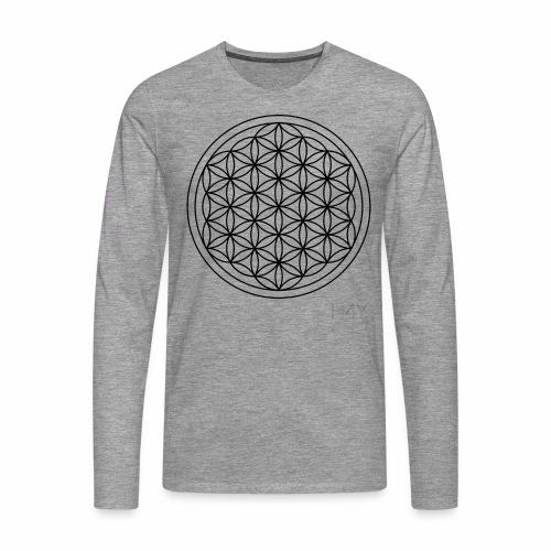 Flower Of Life - This Design Will Heal You - Herre premium T-shirt med lange ærmer