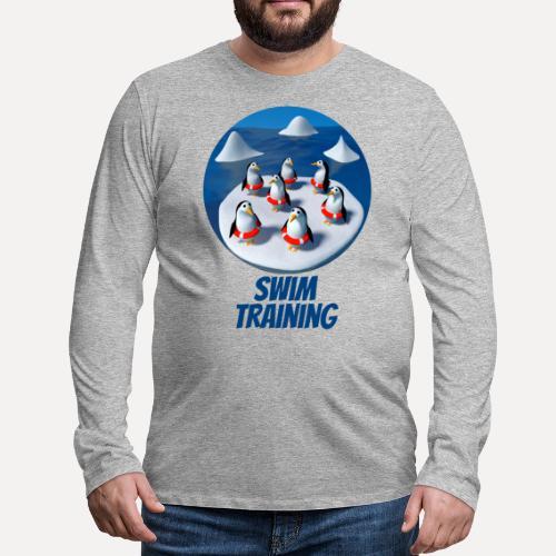 Pinguine beim Schwimmunterricht - Men's Premium Longsleeve Shirt