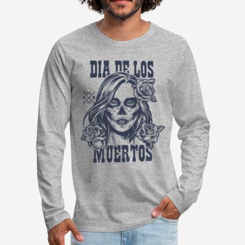 dia muertos day dead - Männer Premium Langarmshirt