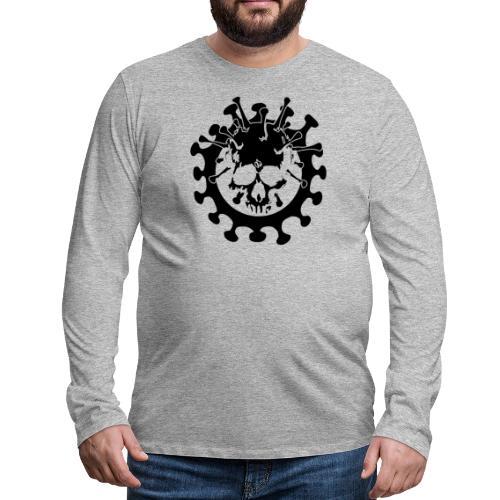 Teschio Dark Nero Covid - Maglietta Premium a manica lunga da uomo