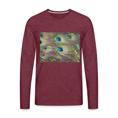 Peacock feathers - Miesten premium pitkähihainen t-paita