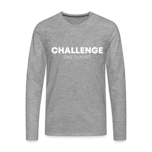 CHALLENGE LOGO WHITE - Men's Premium Longsleeve Shirt