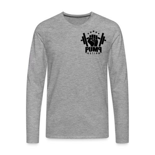 PUMP-ACTION LOGO BLACK - Männer Premium Langarmshirt