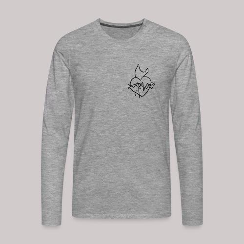 Sagrado Corazón de Jesús - Camiseta de manga larga premium hombre