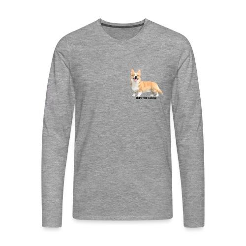 Topi the Corgi - Black text - Men's Premium Longsleeve Shirt