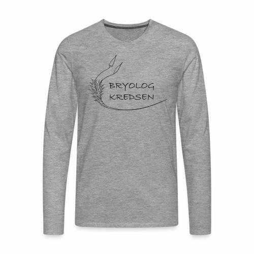 Bryologkredsen - sort logo - Herre premium T-shirt med lange ærmer