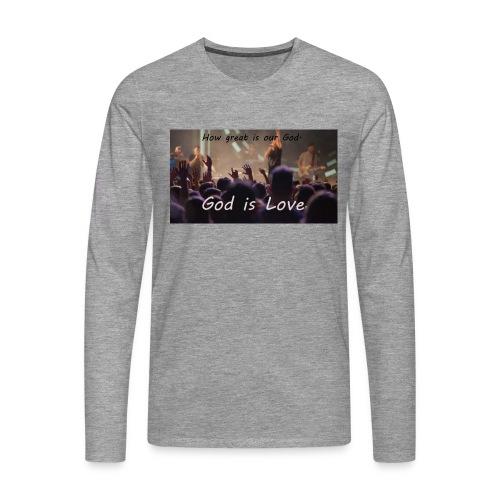 GOD is LOVE. - Männer Premium Langarmshirt