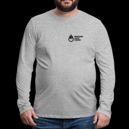 Wicked Sick Crew Tropfen schwarz - Männer Premium Langarmshirt