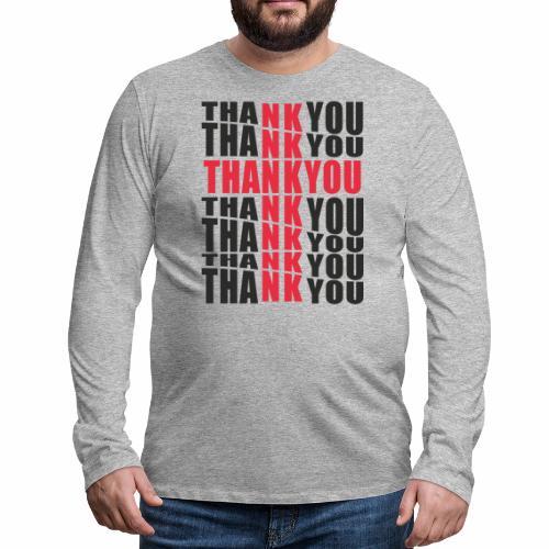 Motyw z napisem Thank You - Koszulka męska Premium z długim rękawem