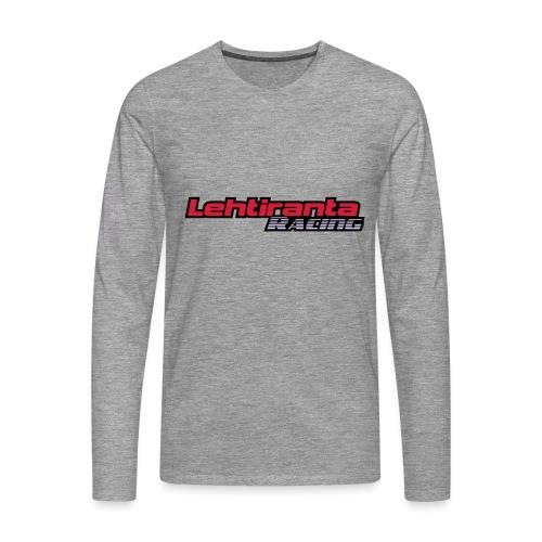 Lehtiranta racing - Miesten premium pitkähihainen t-paita