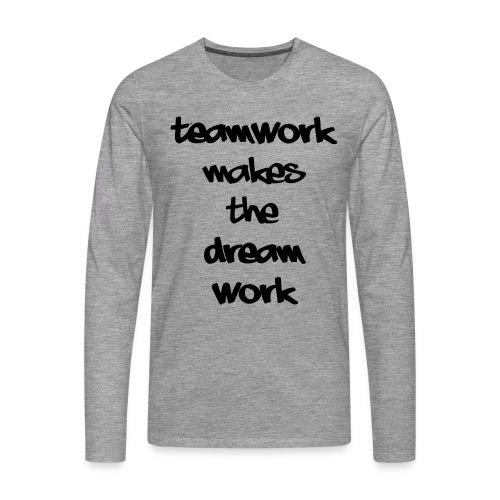Teamwork - Mannen Premium shirt met lange mouwen