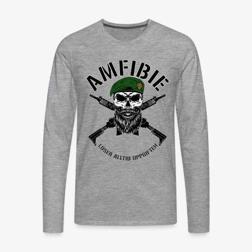 AMFIBIE - Korslagda Ak 5C - Långärmad premium-T-shirt herr