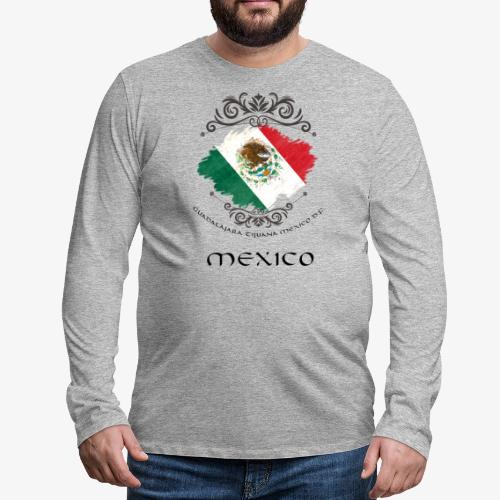 Mexico Vintage Bandera - Männer Premium Langarmshirt