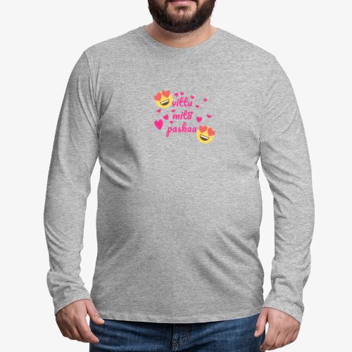 Fuck vad skit - Långärmad premium-T-shirt herr