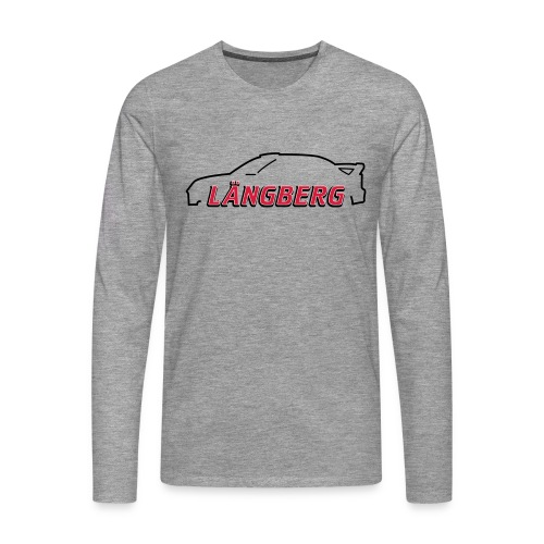 logotype Laengberg - Långärmad premium-T-shirt herr