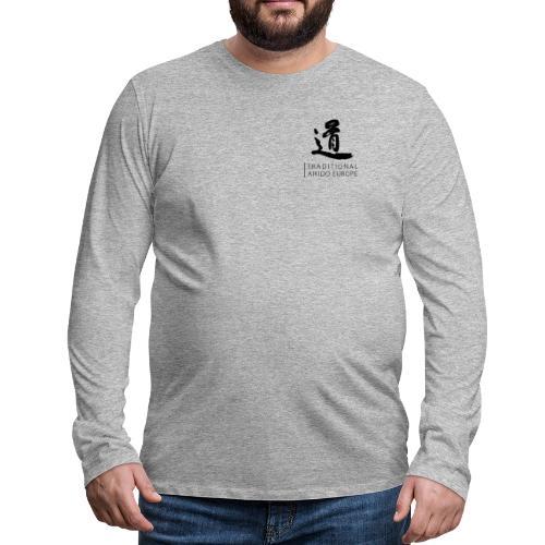 TAE logo black TRANSPARENT - Herre premium T-shirt med lange ærmer