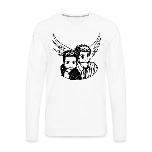 Destiel (Silhuet) - Herre premium T-shirt med lange ærmer