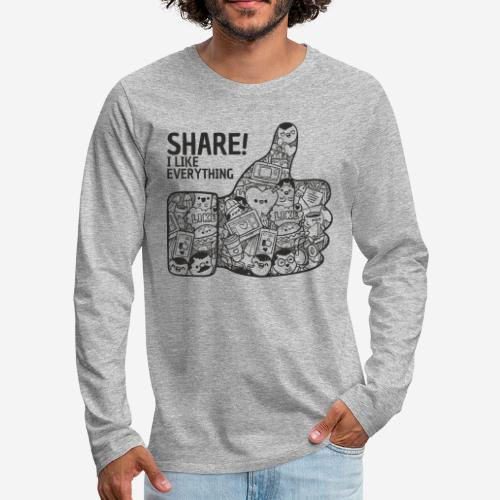 like social media share - Männer Premium Langarmshirt