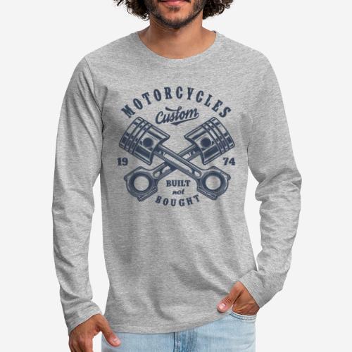 Motorrad benutzerdefinierte Vintage Biker - Männer Premium Langarmshirt
