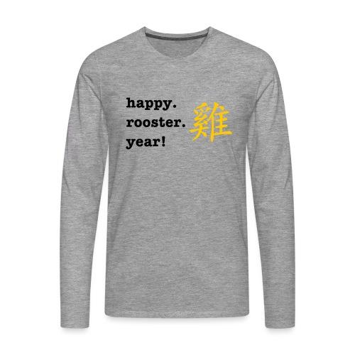 happy rooster year - Men's Premium Longsleeve Shirt