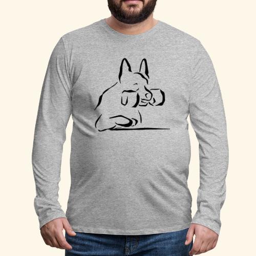 Nouto - Miesten premium pitkähihainen t-paita