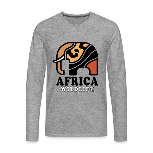Elefant I AFRICA Wildlife - Männer Premium Langarmshirt